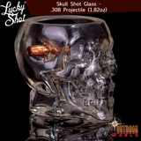 LSBSG-SK / Skull Shot Glass - .308 Projectile (1.82oz)