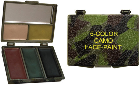 Camouflage #8205 Face Paint With Mirror - 5 Colors