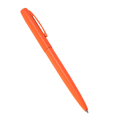 ORANGE METAL CLICKER PEN – Black Ink #OR97