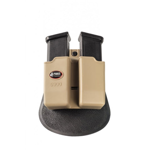 Paddle Khaki Colored Double Magazine Pouch for Glock Double-Stack 9mm Magazines