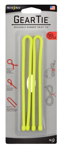 Nite Ize #GT12- 2PK-33 Reusable Rubber Twist Tie