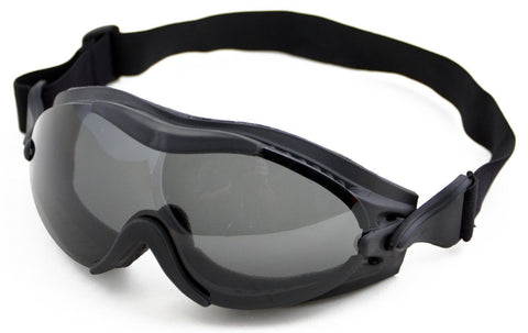 HUMVEE HMV-GGL  UV 400 Protection Tactical Goggle with Adjustable Head Straps, Black