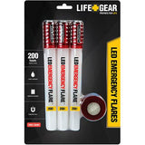 Life Gear #LG437 LED Emergency Road Flare 3-pack with Magnetic Bases