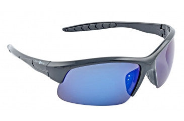 South Bend #SBGS-3 Polarized Glasses Black Frame Mirror Lens
