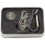 Smith & Wesson SWW-1564-BK Dog Tag Carabineer Pocket Watch with Black Dial