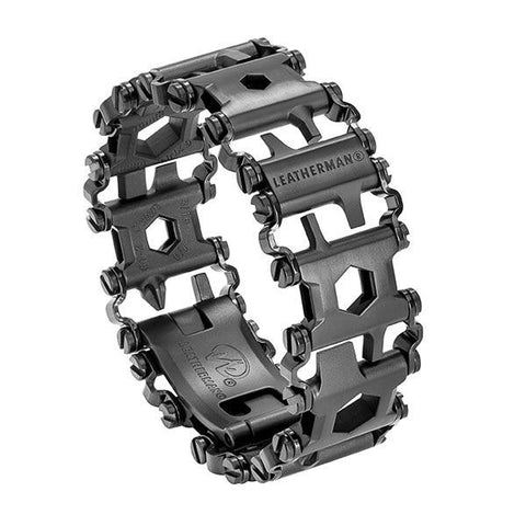 Leatherman #831999N Tread Bracelet - The Travel Friendly Wearable Multi-Tool Color Black