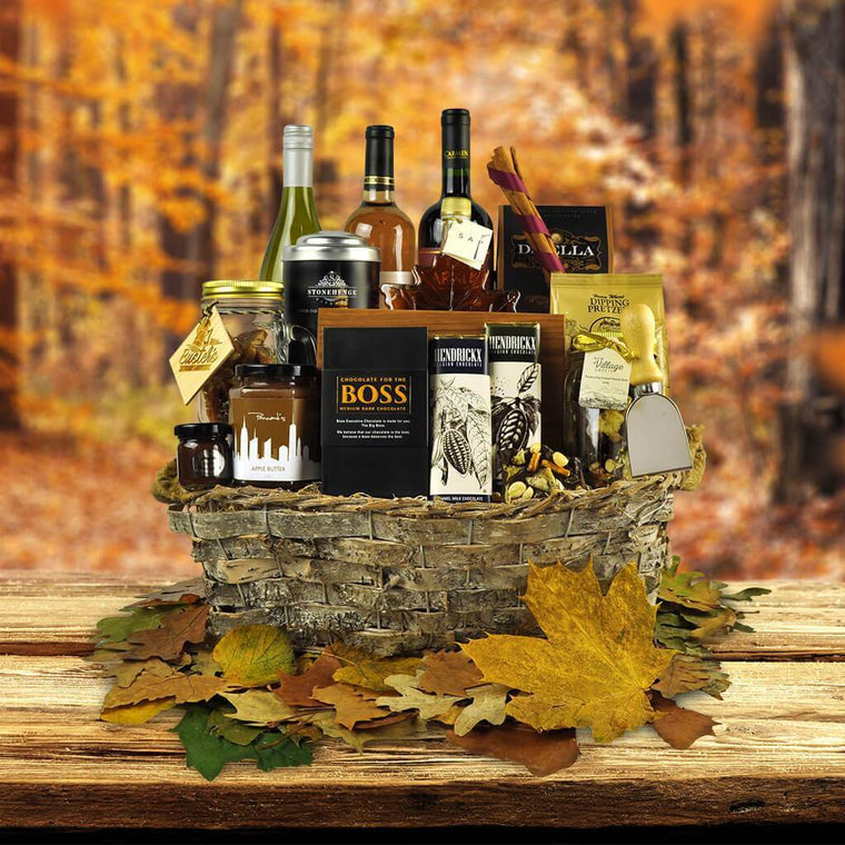 Autumn Bark Gift Basket - Fall Gift Baskets - Toronto Same Day Delivery