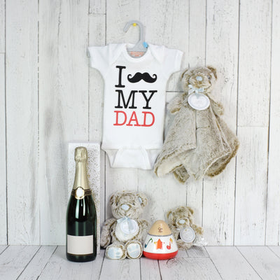 New Dad Welcome Basket, baby gift baskets, baby gifts, champagne gift baskets