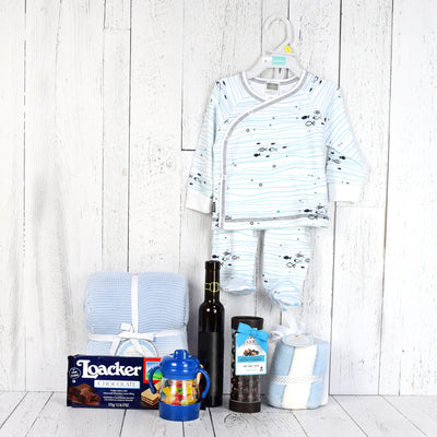 Wafers & Wine Baby Gift Basket