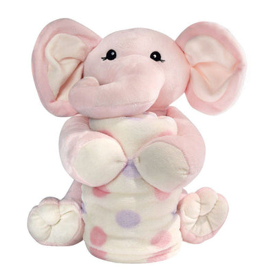 Sweet Pink Elephants Baby Basket
