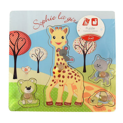 Sophie the Giraffe in Pink Gift Basket
