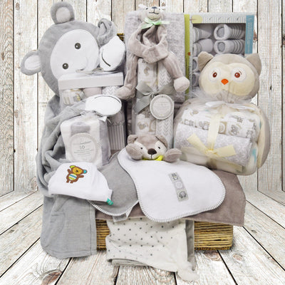 Enchanting Woodland Critters Baby Gift Basket