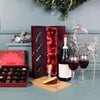 Christmas Wine, Cheese & Chocolate Basket