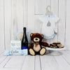 BABY BOY & TOBY GIFT SET WITH CHAMPAGNE, baby girl gift basket, welcome home baby gifts, new parent gifts