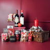 Decadent Holiday Wine & Snacks Basket