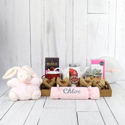 ANNOUNCING BABY GIRL GIFT BASKET