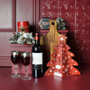 Holiday Wine & Cheese Platter, Christmas gift baskets, wine gift baskets