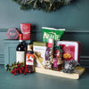 Holiday Sleigh Wine & Treats Gift Basket
