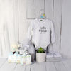 UNISEX HELLO WORLD GIFT SET, unisex baby gift hamper, newborns, new parents