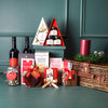 Christmas Sweets & Wine Duo Gift Basket