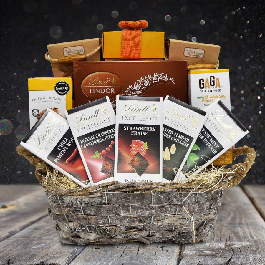 Birthday gift baskets canada yorkvilles canada lindts excellence gift basket negle Image collections