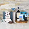 CHOCOLATES & WINE PAIR GIFT BASKET