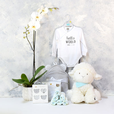 ADORABLE SHEEP UNISEX BABY GIFT SET, baby girl gift hamper, newborns, new parents