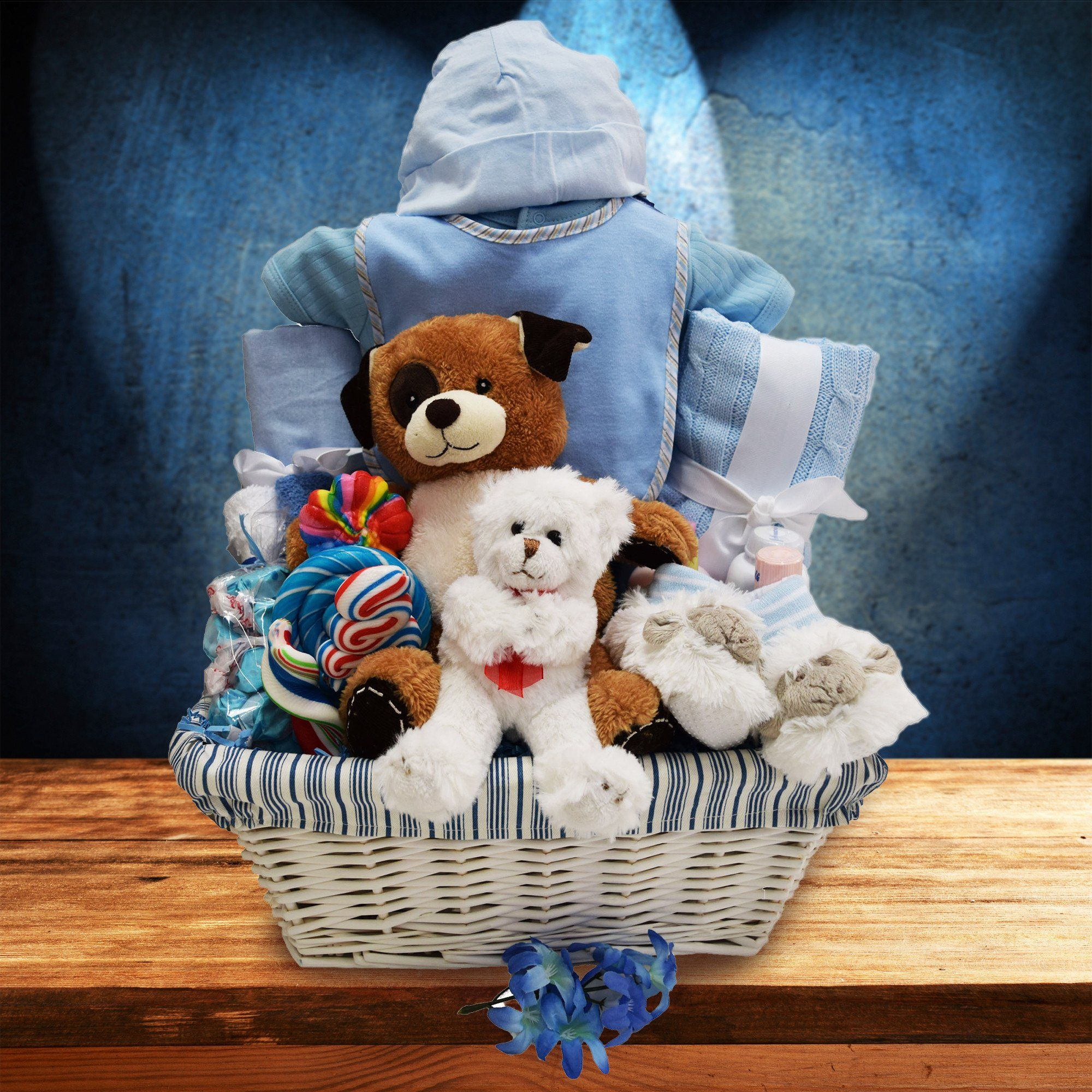 24132e543759 Congratulations on Your New Baby Boy! Basket - YORKVILLE S