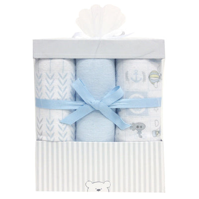 Boxed set of 6 flannel receiving blankets 76x81cm