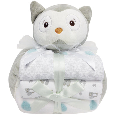 100% polyester cuddly baby gift set