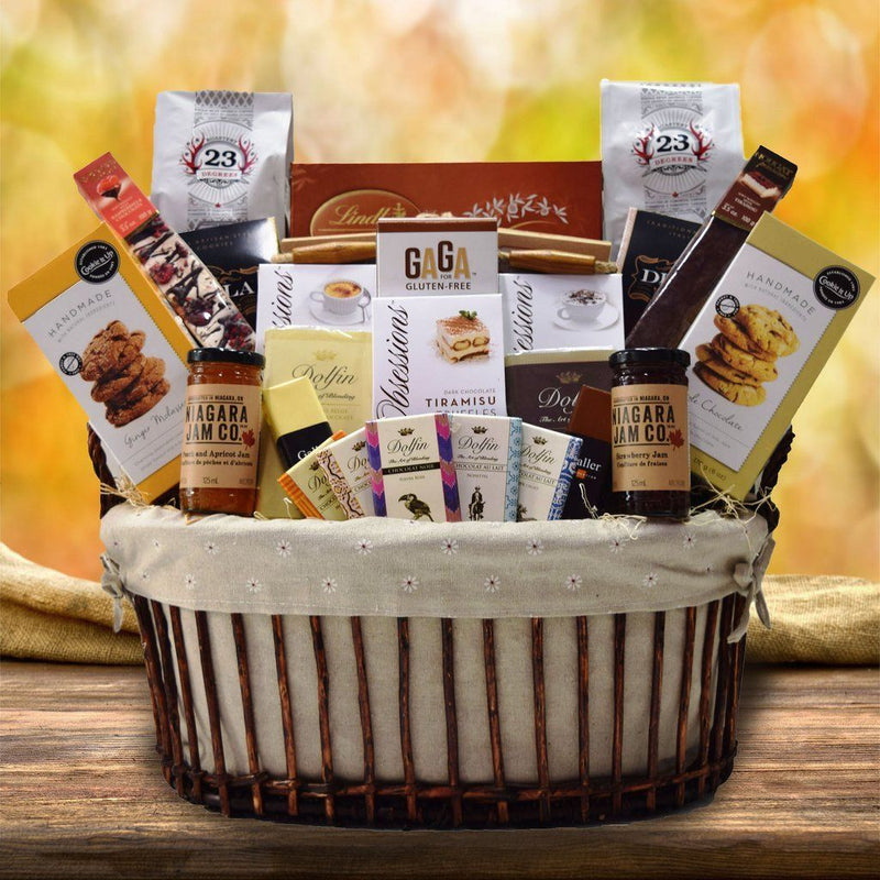Custom thinking of you gift baskets yorkvilles canada negle