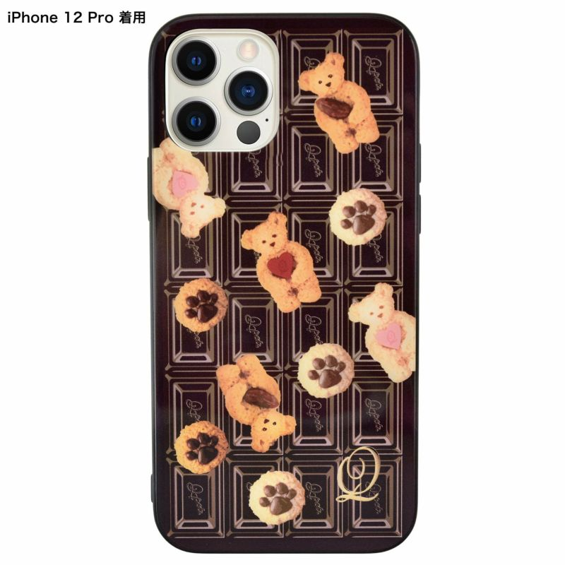 Teddy Bear x Chocolate Hard Glass Case-iPhone12 / 12Pro
