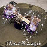 The Crown Of The Violet Princess Tulle Ribbon Comb