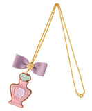 *PRE-ORDER* [Q-pot. X Misako Aoki] Classic Rose Perfume Sugar Cookie Necklace - Pink