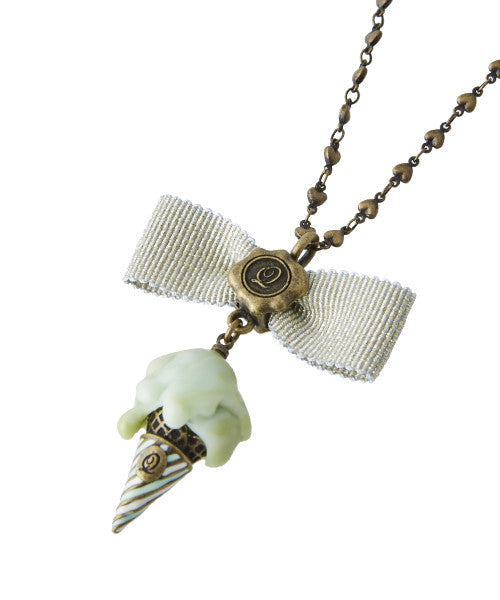 Melty Gelato Ribbon Necklace - Green