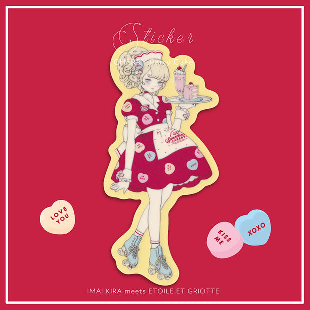 Cherry Party Cake Sticker