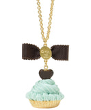 Heart Chocolate Cupcake Necklace - Mint Chocolate