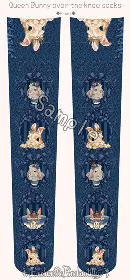 Queen Bunny Over Knee - Navy