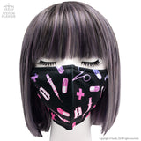 Medical Pattern Face Mask - Black