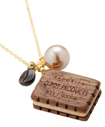 Chocolate Biscuit Coffee Necklace