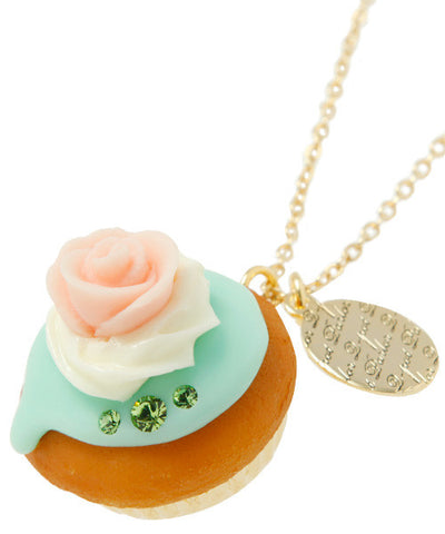 Rose Cupcake Necklace