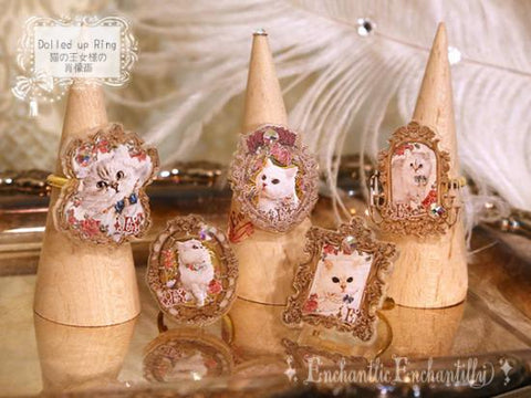 Dolled up ring - Cat Frame series