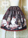 Queen Cat ~Secret Study~ Skirt - Black
