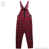 Lace-up Overalls - Red Check