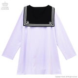 Twins Floating In The Night Sky Sailor Dress - Lavender