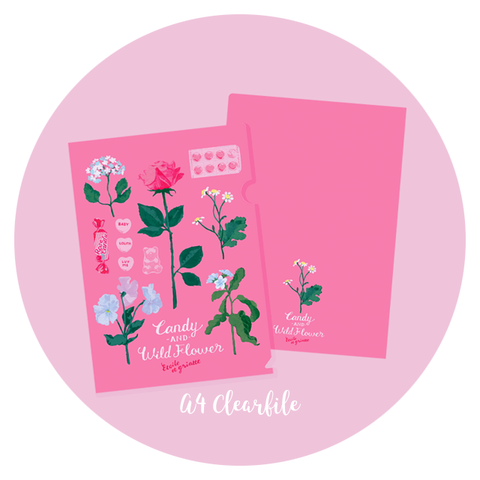 Candy and Wildflower A4 Clear File