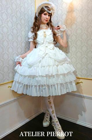 Angel Frill Dress - White