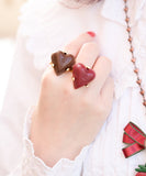 Amour Chocolat Ring - Brown