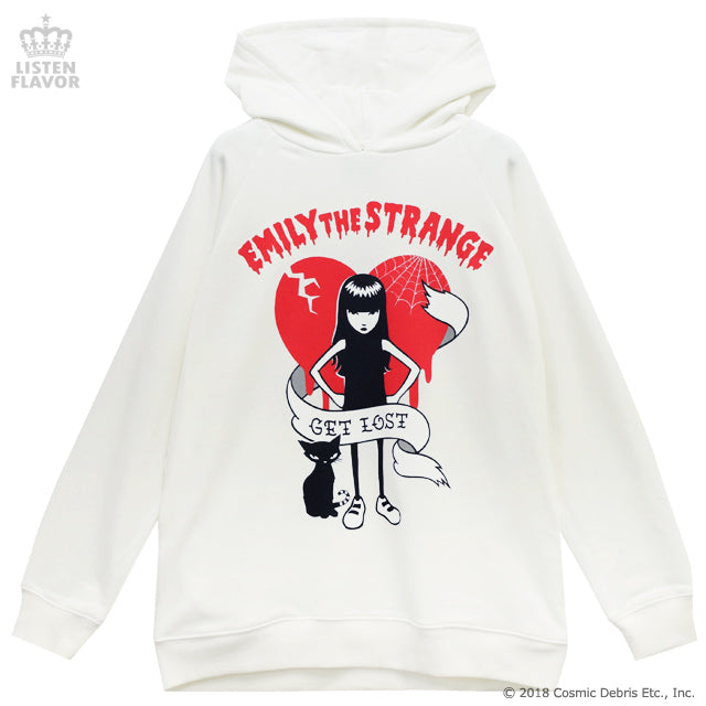 Emily the Strange GET LOST Parka - White