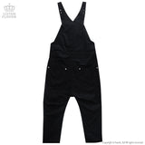 Lace-up Overalls - Black